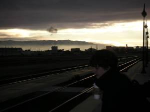 早朝のサンタクララ駅