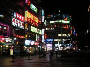 スウォンの街の夜景
