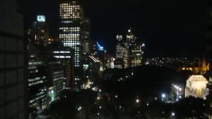 高い階なのでHIDE PARKの夜景が綺麗だ。